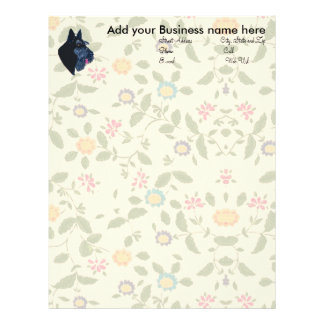 Scottish Terrier Personalized Letterhead