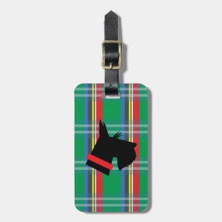 Scottish Terrier Plaid Luggage Tag