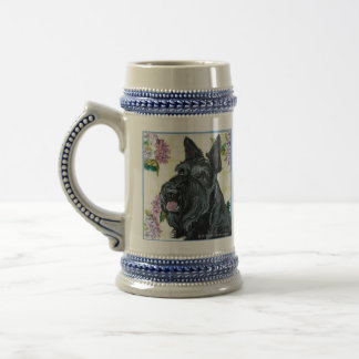 Scottish Terrier Portrait Beer Stein