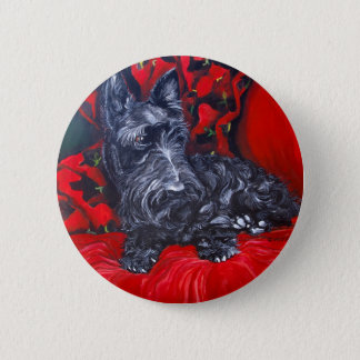 Scottish Terrier Portrait Haggis 2 Inch Round Button
