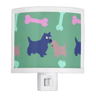 Scottish Terrier Puppy Bones Light Green Night L Night Light