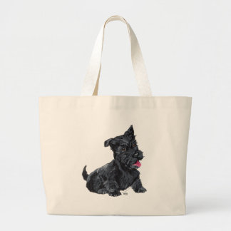 Scottish Terrier Puppy Large Tote Bag