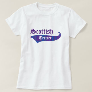 Scottish Terrier Purple Plaid T-Shirt