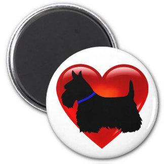 Scottish Terrier red heart/love Island green blue Magnet