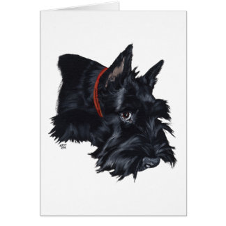 Scottish Terrier Resting Card