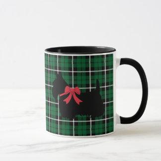 Scottish Terrier, Scotland dog, Kelly green plaid Mug