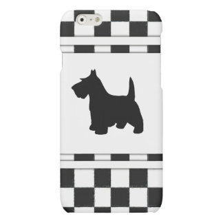 Scottish Terrier Scottie Dog Black and White Check