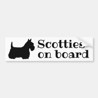 Scottish Terrier, scotties on board Bumper Sticker