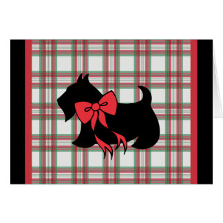 Scottish Terrier Scotty Dog Christmas Holiday Card