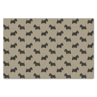 Scottish Terrier Silhouettes Pattern Tissue Paper