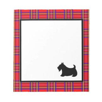 Scottish Terrier Teacher's School Notepad Gift