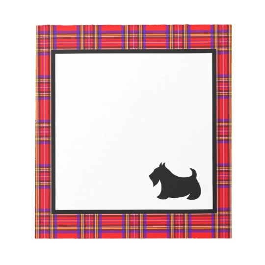 Scottish Terrier Teacher's School Notepad Gift