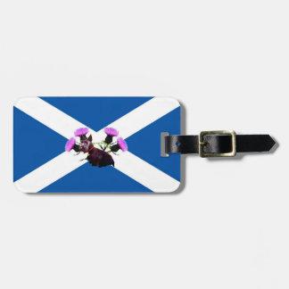 Scottish Terrier thistle /Saint Andrew's flag Luggage Tag