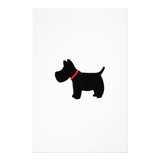 Scottish Terrier w/Red Collar Personalized Stationery