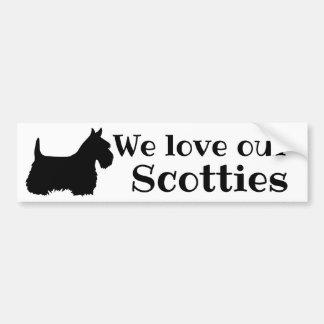 Scottish Terrier, We love our Scotties Bumper Sticker