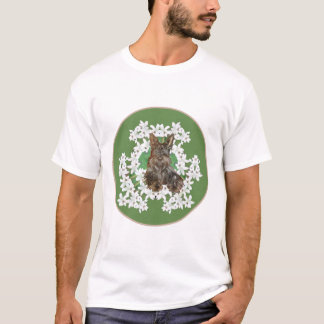 Scottish Terrier White Flowers T-Shirt