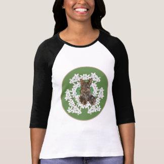 Scottish Terrier White Flowers T-Shirt