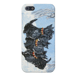 Scottish Terrier Winter Phone Cover For iPhone 5/5S