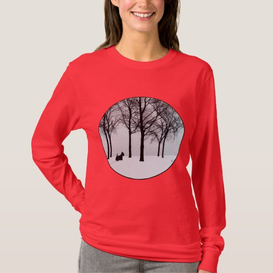 Scottish Terrier Winter Woods T-Shirt