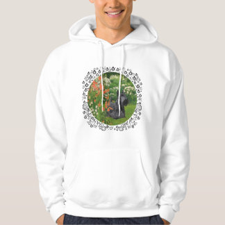 Scottish Terrier with Coral Flowers Hoodie