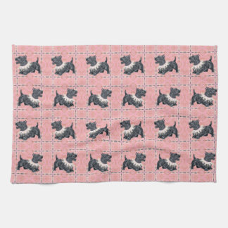 Scottish Terriers Party Mode Kitchen Towel