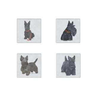 Scottish Terriers Stone Magnets