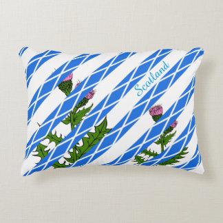 Scottish thistle accent pillow