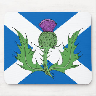 Scottish Thistle and Saltire Mouse Pad