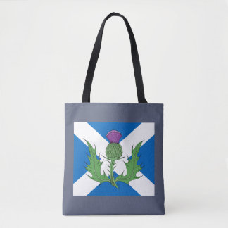 Scottish Thistle and Saltire Tote Bag