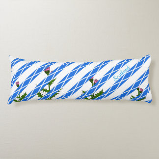 Scottish thistle body pillow
