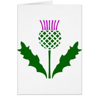Scottish Thistle Card