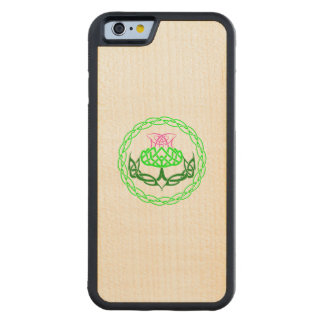 Scottish Thistle Celtic Knot Carved Maple iPhone 6 Bumper Case