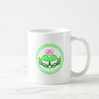 Scottish Thistle Celtic Knot Coffee Mug