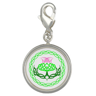 Scottish Thistle Celtic Knot Photo Charms