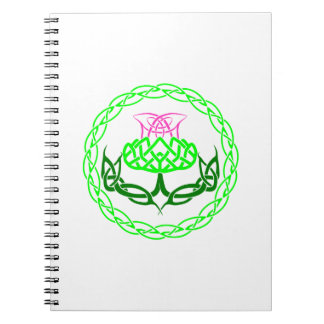 Scottish Thistle Celtic Knot Spiral Notebook