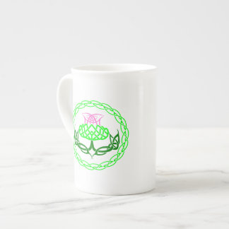 Scottish Thistle Celtic Knot Tea Cup