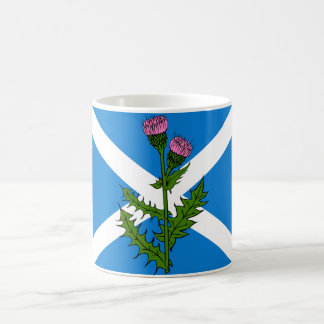 Scottish thistle coffee mug