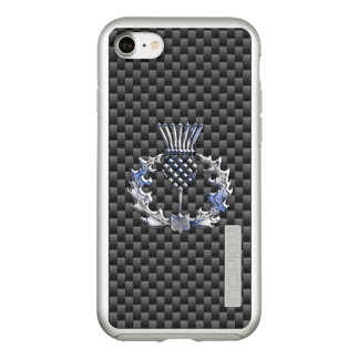 Scottish Thistle Decor on a Incipio DualPro Shine iPhone 8/7 Case