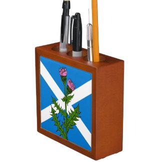Scottish thistle desk organizer
