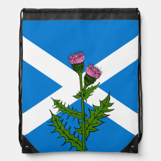 Scottish thistle drawstring bag