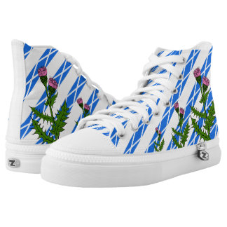 Scottish thistle high tops