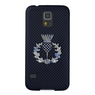 Scottish Thistle in Chrome Style Galaxy S5 Cases