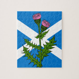 Scottish thistle jigsaw puzzle