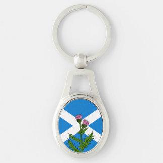Scottish thistle keychain