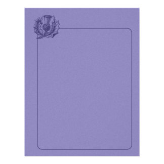 Scottish Thistle Letterhead