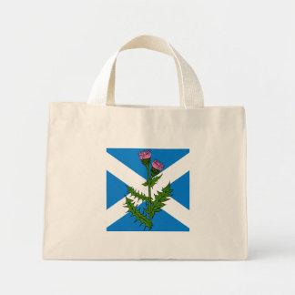 Scottish thistle mini tote bag