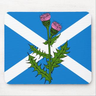 Scottish thistle mouse pad