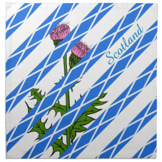 Scottish thistle napkin