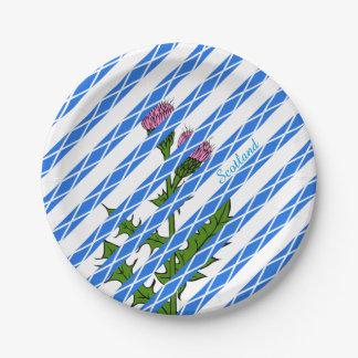 Scottish thistle paper plate