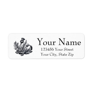 Scottish Thistle Personalize Return Address Label